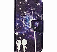For Wiko Case Card Holder / with Stand / Flip / Pattern Case Full Body Case Dandelion Hard PU Leather Wiko