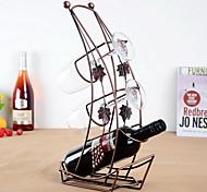 projeto do barco vinho rack de ferro puro do vintage