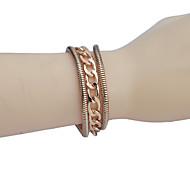 Simple Style Glaze Chain  Alloy Bracelet