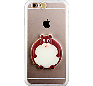 For iPhone 6 Case / iPhone 6 Plus Case Glow in the Dark / LED Flash Lighting / Transparent Case Back Cover Case 3D Cartoon Hard PCiPhone