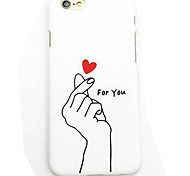 The New PC Matte Hand Gesture of Love Back Cover for iPhone 6 Plus/iPhone 6S Plus(Assorted Colors)