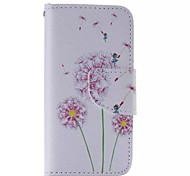 Purple Dandelion Painted PU Phone Case for iphone5SE