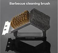 strumenti strumenti di pulizia del pennello barbecue pulizia griglia 3 in 1 per bruciare forno