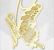 2PCS Vintage Bookmarks Cartoon Butterfly Plated 18K Gold Share Tab For Books Metal Bookends Gift(Style random)