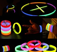 Glowstick Party Activities Luminous Ornaments Bracelet Red Yellow Multicolor 6PCS
