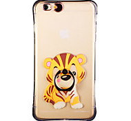 Glow in the Dark South China Tiger with Hand Ring and Strap PC Back Case for iphone6/6s