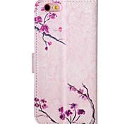 Für iPhone 5 Hülle Geldbeutel / mit Halterung / Flipbare Hülle Hülle Handyhülle für das ganze Handy Hülle Blume Hart PU - LederiPhone
