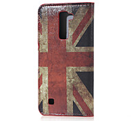 UK Flag Magnetic PU Leather wallet Flip Stand Case cover for LG K7 LG Tribute 5