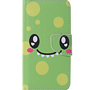 Green Smile Painted PU Phone Case for Galaxy J5 (2016)/J1(2016)