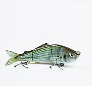 Mmlong 8cm 8.7g 3 Segments Lifelike Baits Slow Sinking Crankbait Swimbait Artificial Fishing Lure MML03B
