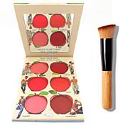 el cepillo de polvo de alta calidad bálsamo para los labios y mejilla paleta de crema + 1 PC
