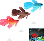 Aquarium Fish Tank Suction Cup Floating Glowing Artificial Betta Fish Ornament