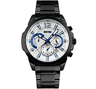 Men Fashion Chronograph Calendar Dial Stainless Steel Quartz Watch
