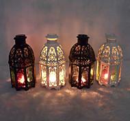 Valentine'S Day European Mediterranean Storm Lantern Craft Gift Castles, Wrought Iron Candlestick