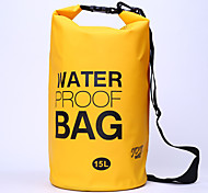 15 L Waterproof Dry Bag Camping & Hiking / Cycling/Bike Outdoor Waterproof / Compact  PVC
