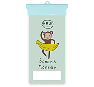 Cartoon Monkey and Banana Pattern Mobile Phone Waterproof Bag for iPhone6/6s