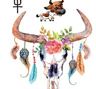 2016 NEW Hot  Arm Tattoo Large Size Waterproof Chinese Zodiac Animal Cow Temporary Tattoo Stickers