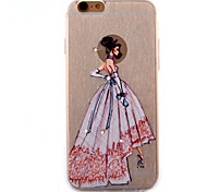 Wedding Dress Model Coloured Drawing Slim TPU Material Phone Case for iPhone 6/6S