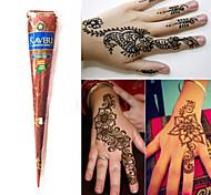 naturali a base di erbe coni henné temporanea kit tatuaggio inchiostro body art mehandi Kaveri (1pcs)