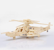 Jigsaw Puzzles 3D Puzzles / Wooden Puzzle Building Blocks DIY Toys Helicopter Wood Beige Model & Building Toy
