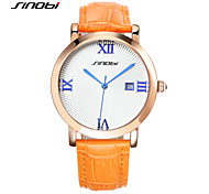 SINOBI Watches Top Brand Womens Antique Rose Gold Bracelet Wrist Watch Female Fashion Quartz-watch Ladies Leather Clock Cool Watches Unique Watches