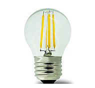 1 pcs E26/E27 4W 4 COB 400 lm Warm White G45 edison Vintage LED Filament Bulbs AC 220-240 V No flash
