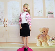 Casual Dresses For Barbie Doll Pink Dresses For Girl's Doll Toy