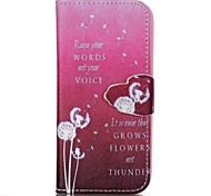 Finger Red Bottom Dandelion Painted PU Phone Case for iphone5SE