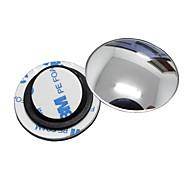 ziqiao 1 PC Auto-Rückspiegel kleinen runden Spiegel Weitwinkel einstellbare optische konvexe Oberfläche mit rotierenden Basis