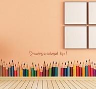 Creative Pencil Baseboard Wall Stickers