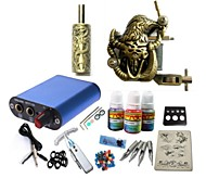 Tattoo Kit JH574 1 Machine With Power Supply Grips 3x10ML Ink