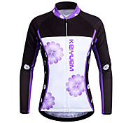 KEIYUEM Cycling Tops / Jerseys Unisex BikeWaterproof / Breathable / Insulated / Quick Dry / Rain-Proof / Dust Proof / Windproof /