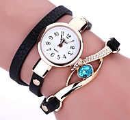 Duoya Brand New Women Bracelet Leather Strap Crystal Watch Long Chain Wristwatches Jewelry Montres femme Gift idea Cool Watches Unique Watches