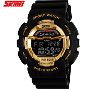 Sports Watch Men's / Ladies' / Unisex LCD / Calendar / Chronograph / Water Resistant / Dual Time Zones / Sport Watch Digital Digital