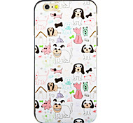 Animal House Pattern IMD Printed TPU Soft Back Cover for iPhone 6/6S(Assorted Colors)