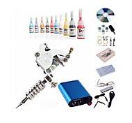 beggineer tatuaje kit kl101 1 máquina con tinta apretones de suministro de energía 5ml