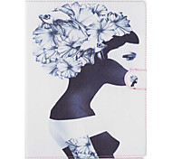 Girl Pattern PU Leather Full Body Case with Stand for iPad 2/3/4