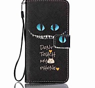 Blue eyes Pattern PU Leather Lanyard phone Case For Samsung Galaxy J5(2016)/J7(2016)