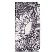 Для Бумажник для карт Кошелек со стендом Флип С узором Кейс для Чехол Кейс для Мультяшная тематика Твердый Искусственная кожа для Apple