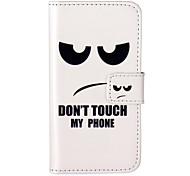 não toque meu padrão de telefone gravado estojo de couro pu para ipod touch5