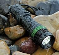 Lanternas LED / Lanternas de Mão LED 3 Modo 3000LM LumensFoco Ajustável / Prova-de-Água / Superfície Antiderrapante / Tático / Tamanho