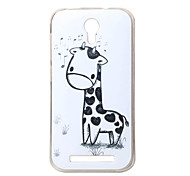 Giraffe New Soft TPU Back Case Cover For DOOGEE Valencia 2 Y100 Mobile phone bags Cases