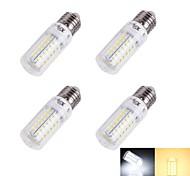 4W E26/E27 LED лампы типа Корн T 56/pcs SMD 5730 240 lm Тёплый белый / Холодный белый Декоративная AC 220-240 V 4 шт.