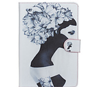 Girl Pattern PU Leather Full Body Case with Stand for iPad  Mini 4