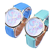 Women'S Crayon Drawing Elephant Charms Style lady Casual watch gifts waterproof