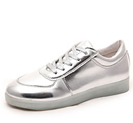 Women's Shoes Leatherette Flat Heel Round Toe Fashion Sneakers Outdoor / Casual / Athletic Silver / Gold