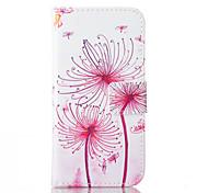 estojo de couro pu dandelionpattern com slot para cartão e ficar para iPhone 6 6s / iphone
