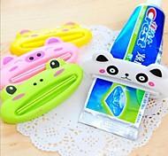 baño nuevo tubo de rodadura casa exprimidor de soporte fácil de dibujos animados dispensador de pasta de dientes