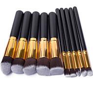 10PCS Professional Makeup Cosmetic Face&Eyeshadow Brushes Set with Brush Egg Powder Blush Eyeshadow Concealer Brush