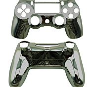 Replacement Controller Case for PS4 Controller PS4 Case Plating (Golden/Silver/Black)